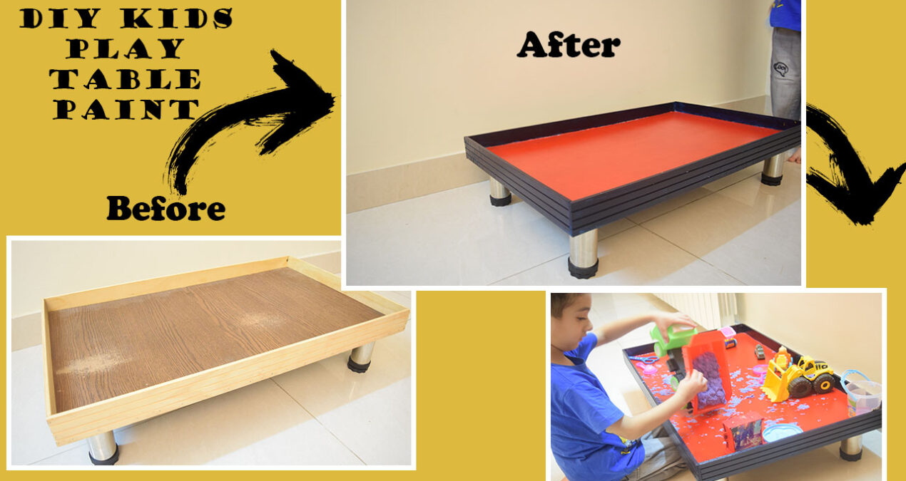 Wooden Table Painting with Acrylics- A step by step guide