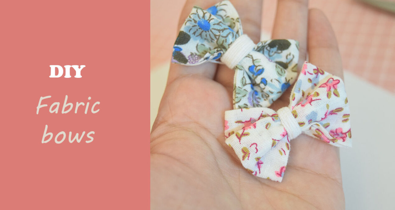 DIY Super Quick and Easy to make Fabric Bows from Scrap Fabric